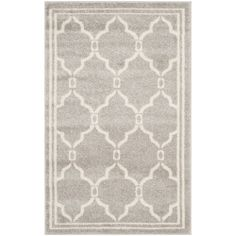 Safavieh Amherst Indoor/ Outdoor Light Grey/ Ivory Rug (3' x 5') | Overstock.com Shopping - Great Deals on Safavieh 3x5 - 4x6 Rugs