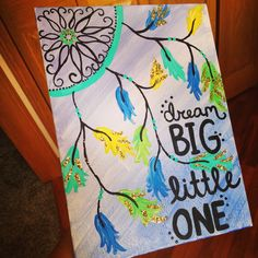 41 Trendy Painting Quotes On Canvas Inspiration Dream Catchers Canvas Crafts, Diy Canvas, Canvas Wall Art, Canvas Ideas, Dream Catcher Canvas, Dream Catchers, Dream Catcher Painting, Rock Painting, Fun Crafts