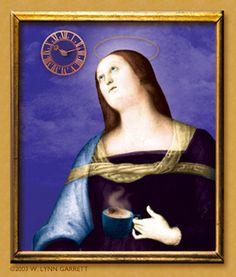 Saint Anxieté of Malta, from W. Lynn Garrett's series 'The Patron Saints of Graphic Design'. http://www.lynnster.com/anxiete.html
