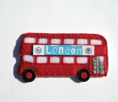 Double Decker London bus....this would be so cute as an ornament