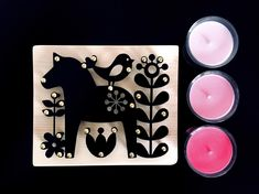 laser cut metal wall decor with wood,black dalarna horse,scandinavian