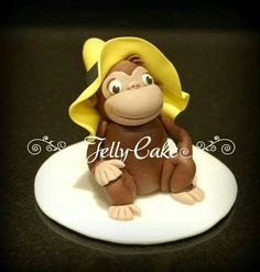 Cake tutorials templates toppers inspiration on for Curious george cake template