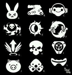 Overwatch Logo Character Overwatch Decal Overwatch Ultimates Overwatch Tattoo