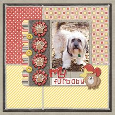 1 photo My Furbaby #scrapbook #layout #puppy #dog #simple