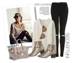 """""""Get The Look"""" by hattie4palmerstone ❤ liked on Polyvore featuring Topshop, Uniqlo, Ray-Ban, Miu Miu, topshop, rayban, uniqlo and muimui"""