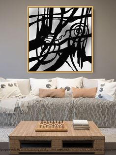Large Canvas Art - Abstract Painting on Canvas, Contemporary Wall Art, Original Oversize Painting Large Abstract Wall Art, Large Canvas Art, Colorful Wall Art, Large Painting, Mid Century Wall Art, Oversized Wall Art, Contemporary Wall Art, Modern Wall, Extra Large Wall Art