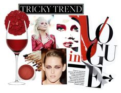"""""""red"""" by cesaley ❤ liked on Polyvore featuring beauty, Illamasqua and LSA International"""