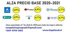 Envía tu carta de adecuación a congelaisapregratis @ gmail . com Miles de casos ganados en todo Chile por abogados y SIN COSTO PARA TI. 56 947991302 - YA ESTAN LLEGANDO LAS CARTAS
