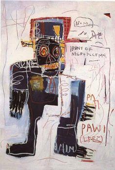Jean-Michel Basquiat: Irony of a negro policeman. 1981.