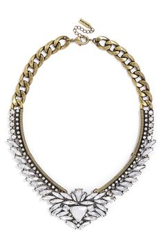Mother's Day gift idea | Baublebar antique gold and crystal collar necklace.