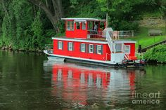 houseboat images | Houseboat On The Mississippi River Photograph - Houseboat On The ...