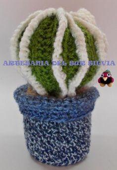 Cactus redondo crochet. Ni pincha ni se riega!!