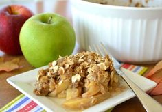Mom's Apple Crisp  Ingredients 3 -4 large apples 1/2 cup flour 3/4 cup brown sugar 1/2 cup butter 3/4 cup quick-cooking rolled oats  Directions Peel apples and remove cores. Slice apples into thin slices and put into lightly greased casserole dish. Mix sugar and flour together. Cut in butter until you have course crumbs. Stir in oats and pour over apples. Bake at 350°F for 35 minutes.  http://www.food.com/recipe/moms-apple-crisp-3579   ┊ ┊ ┊ ☆Follow me here ---> ...