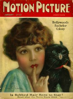Motion Picture Magazine cover featuring a lovely portrait of Dorothy Devore by Marland Stone Jan 1926