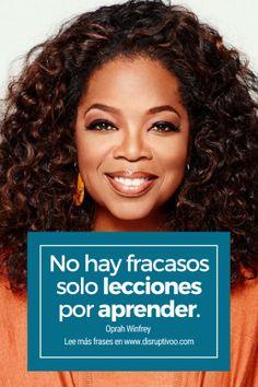 Las 9 mejores frases de Oprah Winfrey sobre el éxito  frases emprendedoras  emprendimiento  millonarios mentes millonarias éxito frases de millonarios actrices famosas mujeres emprendedoras frases motivacionales mujeres emprendedoras frases Business Woman Successful, Business Women, Oprah Winfrey Frases, Inspirational Phrases, Herbalife, Woman Quotes, Amazing Women, Positive Quotes, Positivity