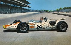 1966 Indianapolis 500 : The Invaders Graham Hill, Lola-Ford Winner. Indy Car Racing, Indy Cars, Le Mans, Grand Prix, Jochen Rindt, Indianapolis Motor Speedway, Classic Race Cars, Race Engines, Old Race Cars