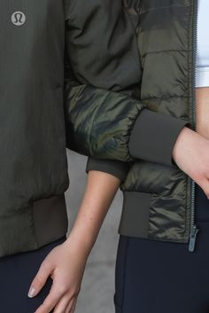 Going to try this on this weekend! Play both sides in the reversible lululemon Non-Stop Bomber.