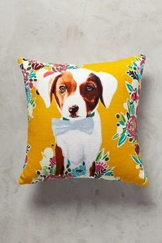 Anthropologie Flower Pup Pillow #anthroregistry