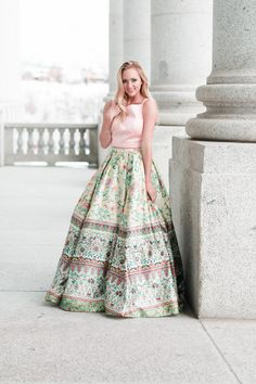 416c5a63e6ba Sherri Hill spring prom 2017 boho two piece prom ballgown ypsilon dresses  utah print Prom Ballgown