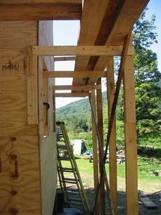 IMG_2451 Wooden Scaffolding, Aluminium Scaffolding, Micro House Plans, Home Security Systems, Home Repair, House In The Woods, Crane, Home Projects, Woodworking Plans