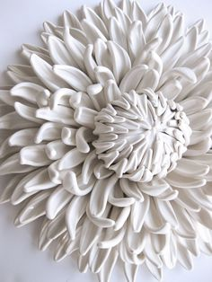 Working from a tiny table in the nook of her living room, California-based artist Angela Schwer crafts explosive dahlias, gardenias, poppies, fungi, and sea creatures all from a custom blend of polymer clays. Meant primarily as decorative objects, the dense handmade pieces are surprisingly detailed,