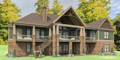 Stunning Craftsman Home Plan with Optional Lower Level - 86297HH thumb - 02