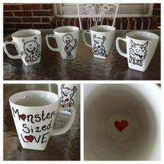 Monster Mugs - DIY sharpie mugs                                                                                                                                                                                 Mehr