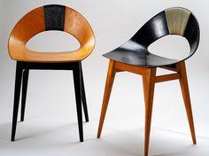 Teresa Kruszewska | krzesło Muszelka | 1956.