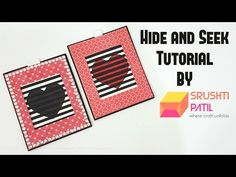 Hide and Seek card Tutorial by Srushti Patil | Valentine Special - YouTube