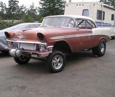 56 Chevy Gasser | Photo: 56 Chevy Hard top gasser build 001 | Tri Five 55 56 57 Chevy ...