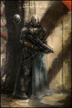 Mark Molnar - Sketchblog of Concept Art and Illustration Works: Project Dune - Arrakeen City Guard