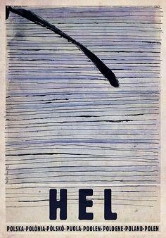 Hel Peninsula, Polish Tourist Poster