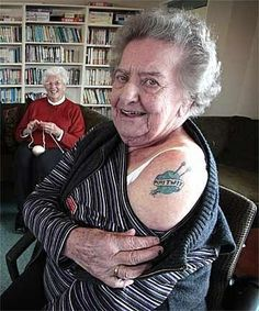 Go Nanna!  Yes! Another knitting tattoo!