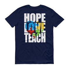 Hope Love Teach Autism Shirt - Autism Awareness Day month T-shirt