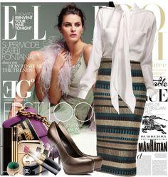 """Egypt walking on the Burberry street"" by eleonoragocevska ❤ liked on Polyvore"