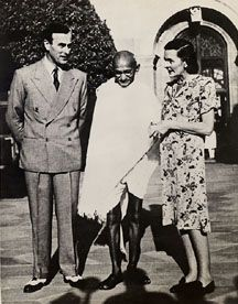 Lord Louis Mountbatten, the last Viceroy of the British Raj, with his wife, Lady Edwina, and Gandhi.  This history is so fascinating. I'm enjoying the writing of this book so much.  www.christinelindsay.org