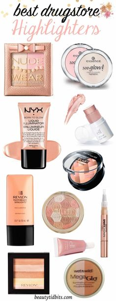 Best drugstore highlighters for strobing