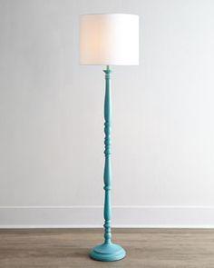 H7CKK Teal Courtney Floor Lamp