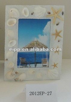 2012 sea shell decorative frame handmade photo frame