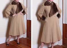 Free shipping. Vintage 40s gorgeous princess coat by WearthatDress