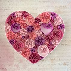 Pink Heart by Itisonlypaper on Etsy