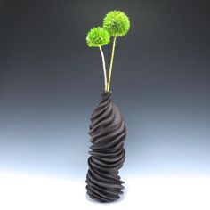 Chocolate Brown Carved Organic and Modern Sculptural by jtceramics, $170.00