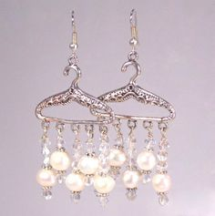 Pearl and Crystal Hanger