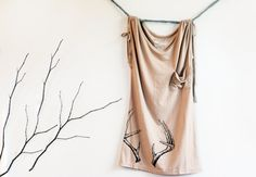 Antler Screenprinted Blouse // Size SMALL // by AsBoldAsLions on etsy
