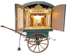 Miniature puppet theater cart~Image © Auction Team Breker.