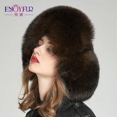 f655ecadd2c864 Enjoyfur Real Fox Fur Hat Earflap Thick Warm Winter Hats For Women Rus –  FuzWeb Winter