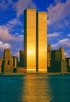 World Trade Center, New York City; 1973  9/11/01  WE WILL NEVER FORGET!!!