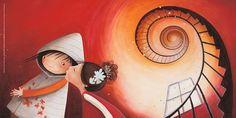 Illustratie van Valeria Docampo uit 'Het land van de grote woordfabriek'