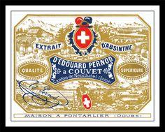 Edouard Pernod Absinthe Label Print