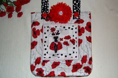 """""""Lady in Red"""" Loralie Designs Bag! Fun with Sewing!!!"""